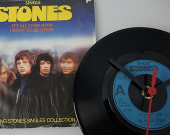 """The Rolling Stones - 'It's All Over Now' 7"""" Record Clock"""
