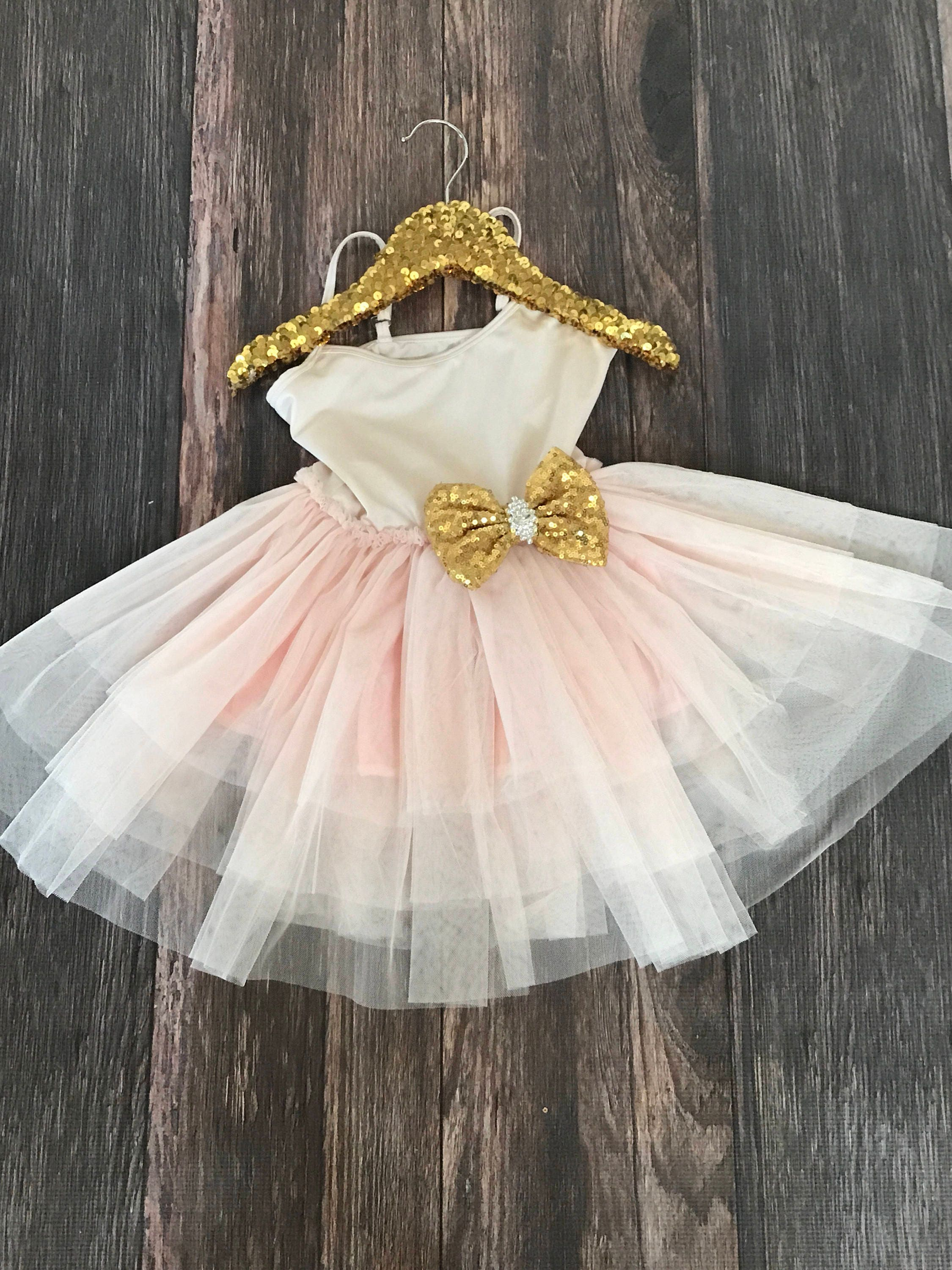 Fancy Girls Pink Blush Tutu Dress First Birthday Tutu Dress