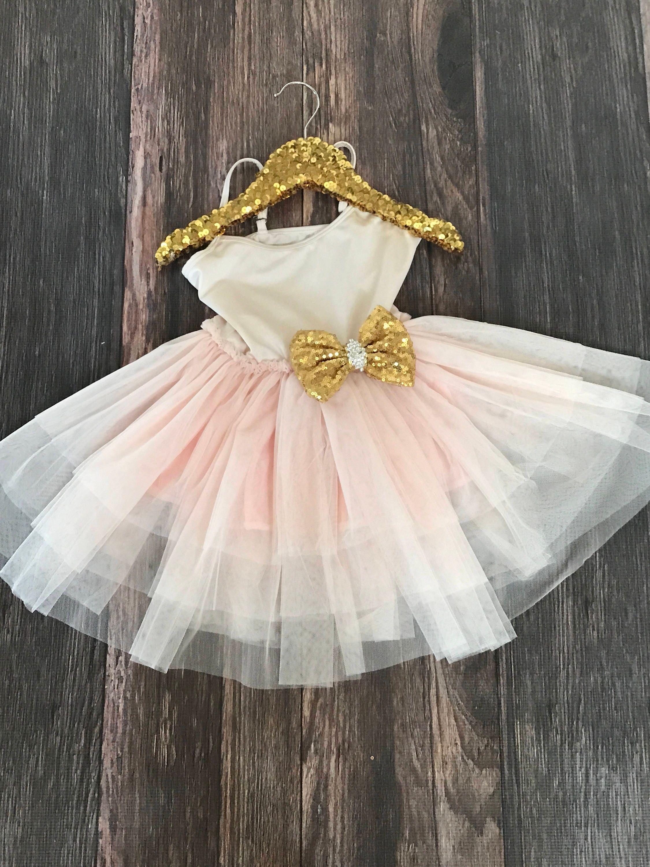 Fancy Girls Pink Blush Tutu Dress First Birthday Tutu Dress