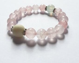 Rose Quartz Love Gem Stone Bracelet