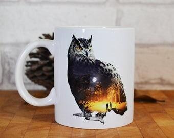 Owl Exposure Mug, Owl Mug, Beautiful, Wildlife, 11oz