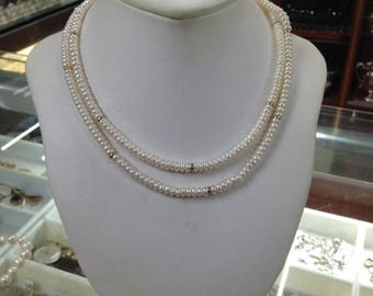 Fresh Water Pearls Necklace, Hand-Made Pearl Necklace