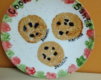 Cookies For Santa Ceramic Plate
