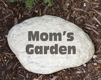 Personalized garden stone Etsy