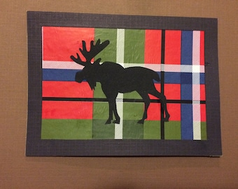 Woodland Animals Greeting Card- Moose- Blank Card