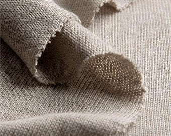OUT of STOCK at the moment _ natural HEMP jersey single _ fabric by yard