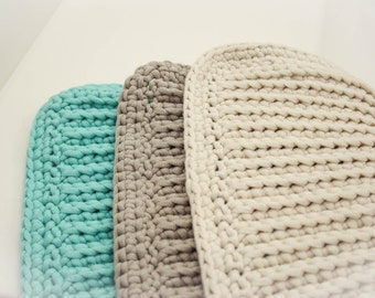 Crochet Dishcloth, Dishcloth, Reusable, Cotton Dishcloth, Washcloth, Crochet Washcloth, Set of 3, Cotton Dishcloth, Baby Shower Gift, Cotton