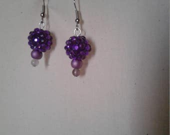 Glistening Purple Earrings