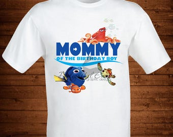 Iron On Transfer Mommy of the Birthday Boy Finding Nemo Finding Dory