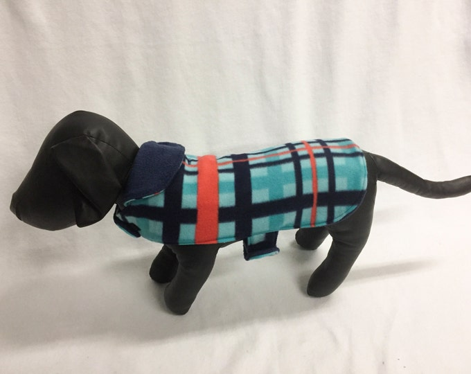 Blue/Red Plaid Dog Coat 1025