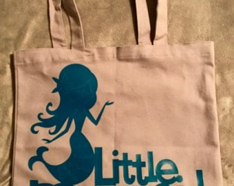 Little mermaid bag with personalized name