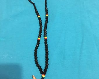Rastabead bonehead  necklace