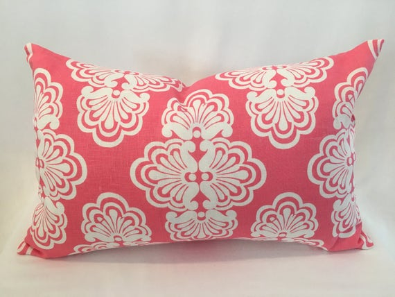 "14"" x 22"" Lilly Pulitzer by Kravet, Shell We in Hotty Pink"