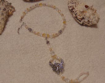 Barefoot Anklet with a Fairy  Charm with Detachable Toe Piece that turns into a Bracelet