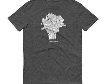 Syracuse Shirt, Syracuse NY, Syracuse TShirt, Syracuse Gift, Syracuse Tee, Syracuse Map, Upstate New York, NY Map, University, Graduation