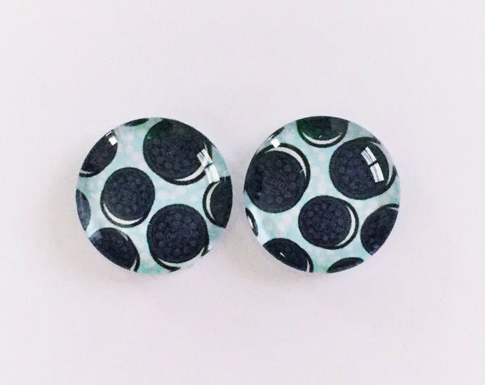 The 'Oreos' Glass Earring Studs