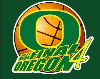 Oregon Ducks Decal Final 4 Car Decal | University of Oregon Decal | UO Decal | Go Ducks