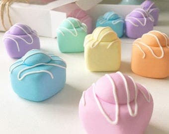 Set of 8 Pastel Fondant Fancy Sewing Pattern Weights | CUSTOM COLOURS AVAILABLE | Great Gift for Sewists of All Abilities |