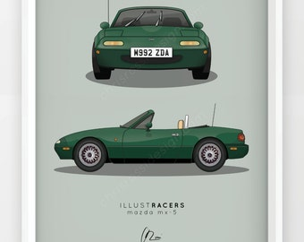 Mazda Mx-5 Print (Various Colours)