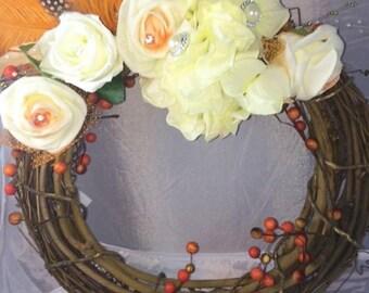 Flower arrangement, door wreath, flower wreaths, wreaths, Mother'shey gift, door decoration, hanging wreaths