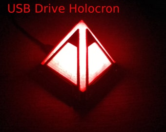 Sale // Sith Holocron USB Drive with LED's & HD Detailing