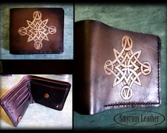 """leather wallet """"The Celtic"""" (CMKn6)"""