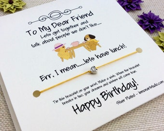Friend Birthday Bracelet, Friend Bracelet Gift For Friend Birthday Friend Gift Friend Wish Bracelet Best Friend Birthday Card Friend