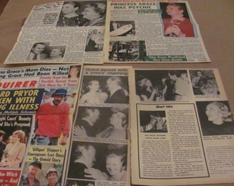 PRINCESS GRACE KELLY clippings  #1209