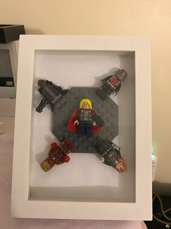 Lego Avengers Picture Frame Decor Office Home By Bad2thebrick