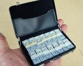 1/6 Scale Miniature Model Briefcase Full of Cash