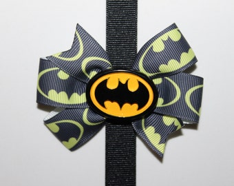 Batman inspired hair bow