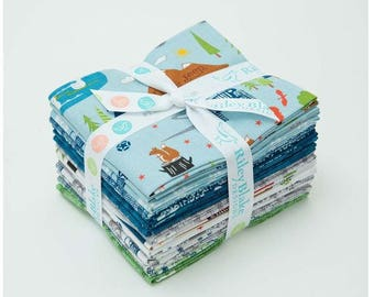 Riley Blake J is for Jeep fabric collection fat quarters - 15 total