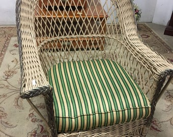 Rattan Wicker Arm Chair, Wicker Furniture, Mid Century Wicker Chair, Fine Woven Furniture