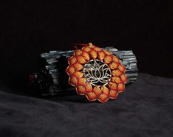 Lotus flower Mandala pendant