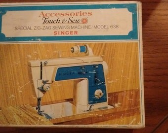 Singer Machine Accessories Zig Zag Tools Model 638 Accessories Touch & Sew Special Zig Zag Box
