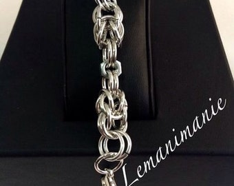 chainmail bracelet bolt/chainmail bracelet with bolts