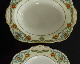 WH Grindley & Co Serving Platter and Serving Bowls Ivory Arcadia