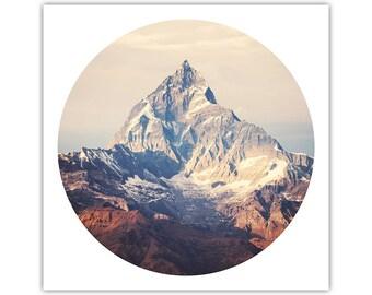 Himalayas Art, Mountain Print, Tibetan Decor, Adventure, Nature, Wilderness, Snow Peak, Photographic Poster, Large Canvas