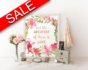 Wall Art The Greatest Of These Is Love Digital Print The Greatest Of These Is Love Poster Art The Greatest Of These Is Love Wall Art Print