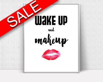 Wall Art Makeup Digital Print Makeup Poster Art Makeup Wall Art Print Makeup Fashion Art Makeup Fashion Print Makeup Wall Decor Makeup
