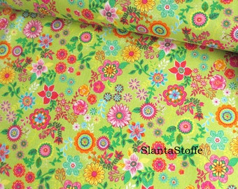 Cotton fabric flowers, fabric 7699
