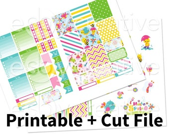 Sping Theme - Weekly Sticker Kit Printable for Erin Condren Horizontal - HWK-006 - INSTANT DOWNLOAD