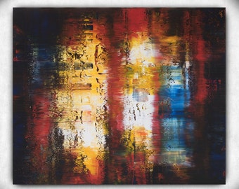 Abstract Acrylic Painting on Canvas, Abstract Art, Large Wall Art, Home Decor Modern Art