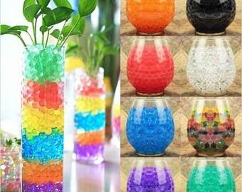 10bag/lot Pearl shaped Crystal Soil Orbiz Growing Bulbs Water Beads Mud orbeez