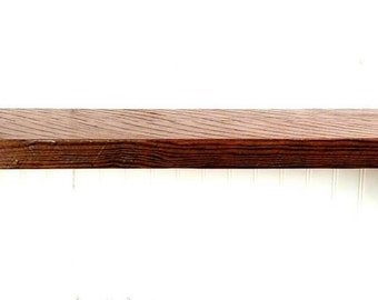 """Reclaimed rough sawn hemlock 12"""" mantel style wall shelf with brackets and hardware included"""