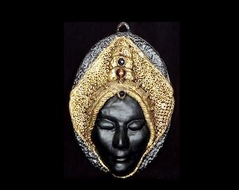 Prophetess, Wall Art Mask, Mask Sculpture, 3d Wall Art, Face Wall Decor