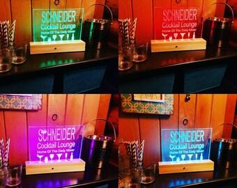Custom Led Sign; House Warming; Bar Sign; Man Cave; Wedding Gift; Bar Decor; Fathers Day; Birthday; Groomsmen Gift; Bar Sign
