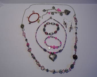 Pretty in Pink Jewelry Collection Necklaces, Bracelets, Anklets, Boot Candy -Priority Shipping World Wide! More Jewelry in Shoppe!