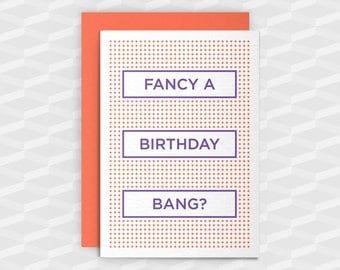 Rude Birthday Cards|Happy Birthday Rude|Fancy a Birthday Bang?|Rude Greetings Card|Crude Birthday Card|Sarcasm Cards|Inappropriate Cards|Gay