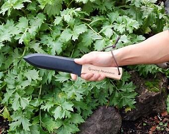 Hori Hori Garden Knife - Hand Engraved, Garden Tool